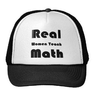 Las mujeres reales enseñan a matemáticas gorra