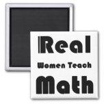 Las mujeres reales enseñan a matemáticas iman