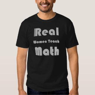Las mujeres reales enseñan a matemáticas polera