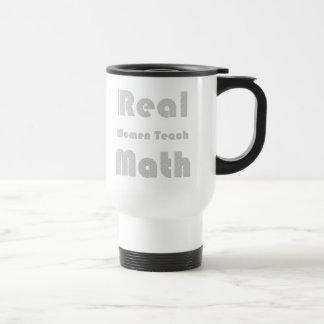 Las mujeres reales enseñan a matemáticas taza de viaje de acero inoxidable