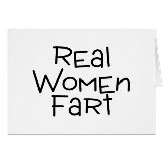 Las mujeres reales Fart Tarjeta De Felicitación