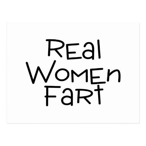 Las mujeres reales Fart Tarjetas Postales