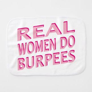 Las mujeres reales hacen Burpees Paños Para Bebé