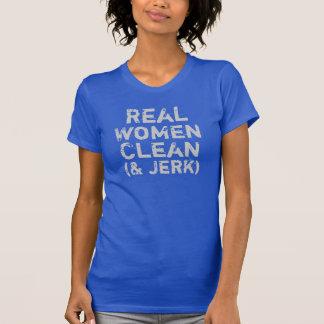 Las mujeres reales limpian - y - tirón camiseta