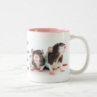 ¡Las mujeres reales poseen ratas! Tazas De Café