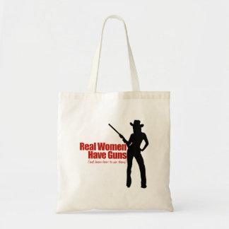 Las mujeres reales tienen armas bolsa tela barata