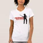 Las mujeres reales tienen armas camiseta