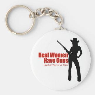Las mujeres reales tienen armas llavero redondo tipo pin