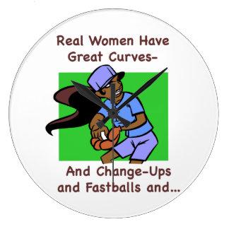 Las mujeres reales tienen gran reloj de pared de l