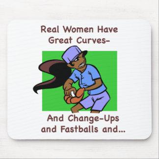 Las mujeres reales tienen grandes curvas Mousepad