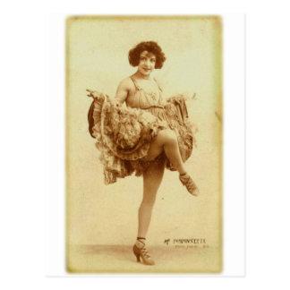 Las mujeres retras del vintage francesas postal