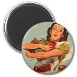 ¡Las mujeres retras WW2 del vintage por supuesto p Iman De Nevera