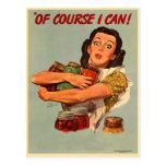 ¡Las mujeres retras WW2 del vintage por supuesto p Postales
