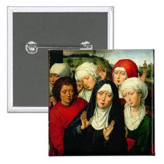 Las mujeres santas, el panel derecho pin cuadrada 5 cm
