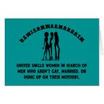 Las mujeres solteras unidas - escoge la camisa div tarjeta
