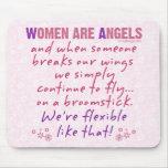 Las mujeres son ángeles alfombrillas de raton
