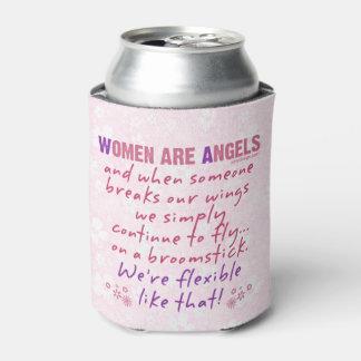 Las mujeres son ángeles enfriador de latas