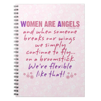 Las mujeres son ángeles note book