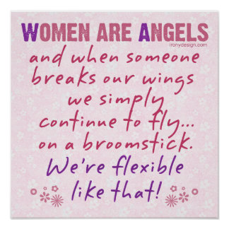 Las mujeres son ángeles póster