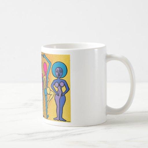 Las mujeres tazas de café
