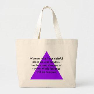 Las mujeres toman su lugar legítimo como líderes s bolsas de mano