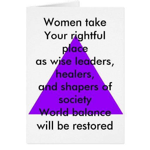 Las mujeres toman su lugar legítimo como líderes s tarjeta de felicitación