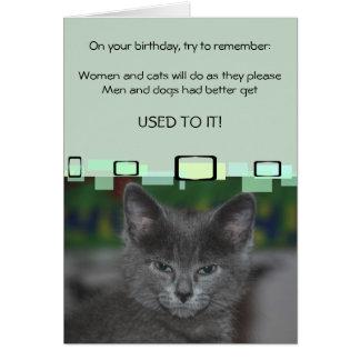 Las mujeres y los gatos harán como ellas por favor tarjeta pequeña