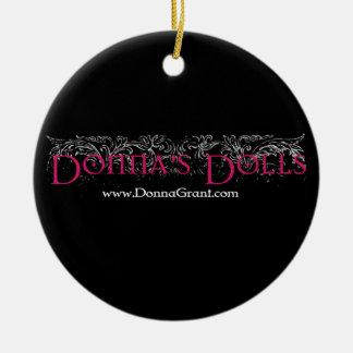 Las muñecas de Donna Adorno Navideño Redondo De Cerámica