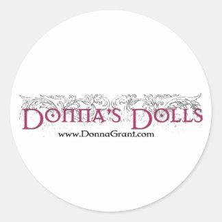 Las muñecas de Donna Etiquetas Redondas