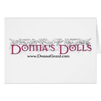Las muñecas de Donna Tarjeta De Felicitación