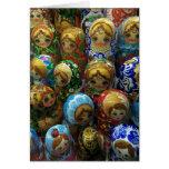 Las muñecas de Matryoshka del recuerdo le Tarjeta Pequeña