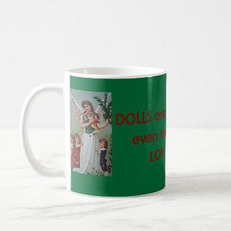 Las muñecas son hermosas los ángeles los aman café taza de café