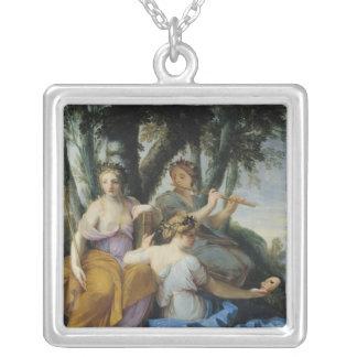Las musas, Clio, Euterpe y Thalia, c.1652-55 Colgante Cuadrado