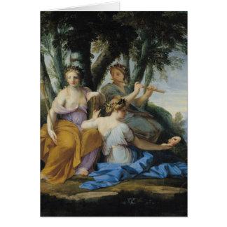 Las musas, Clio, Euterpe y Thalia, c.1652-55 Tarjeta De Felicitación