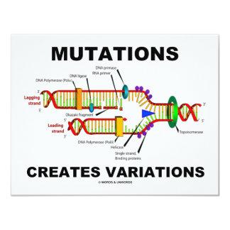 """Las mutaciones crean variaciones invitación 4.25"""" x 5.5"""""""