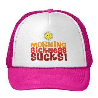 Las náuseas matinales chupan gorras de camionero