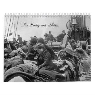 Las naves del emigrante calendario