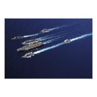 Las naves del grupo de la huelga del portador de fotografía