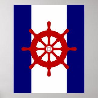 Las naves del rojo ruedan a la marina de guerra y póster