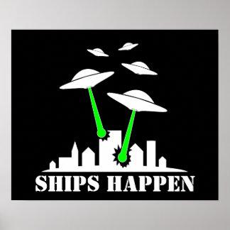 Las naves del UFO suceden Poster