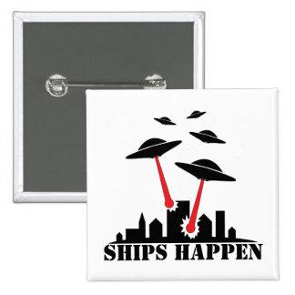 Las naves del UFO suceden Pin Cuadrado