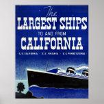 Las naves más grandes a y desde la lona de Califor Poster