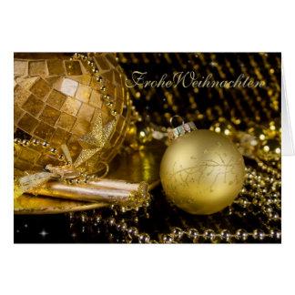 Las navidades áureas tarjeta de felicitación