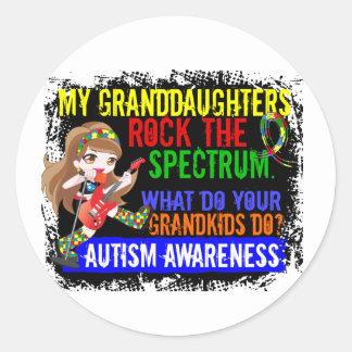 Las nietas oscilan el autismo del espectro pegatina redonda