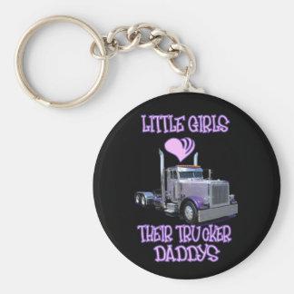 Las niñas aman a su camionero Daddy& apos; s Llavero Redondo Tipo Pin