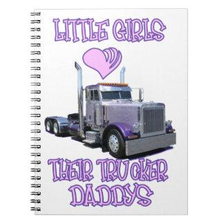 Las niñas aman sus cuadernos de los papás del cami