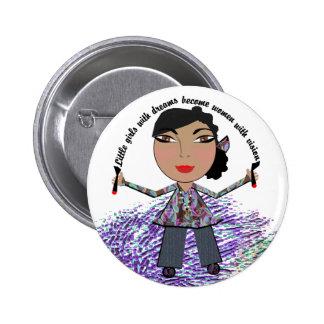 Las niñas con sueños hacen mujeres con Vision Pin