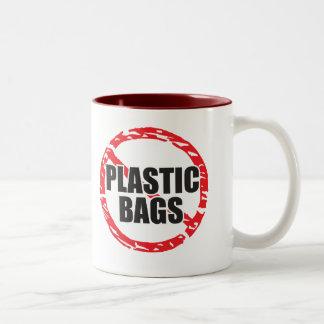 Las ningunas bolsas de plástico taza de dos tonos