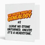 Las normas de oro de la genealogía #1