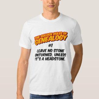 Las normas de oro de la genealogía #1 camisas